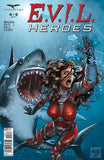 E.V.I.L. Heroes #4 Hellion Attacked By Giant Shark Red Armor Underwater Ocean Scary Thrilling Danger