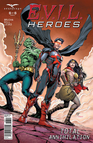 E.V.I.L. Heroes #6 Chaos Merman Evil Princess Action Blowing Dust Intimidating Cape Trident