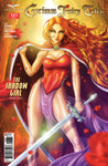 Grimm Fairy Tales #121 Warrior Mage Girl Red Hair Sword Leaves Falling Autumn