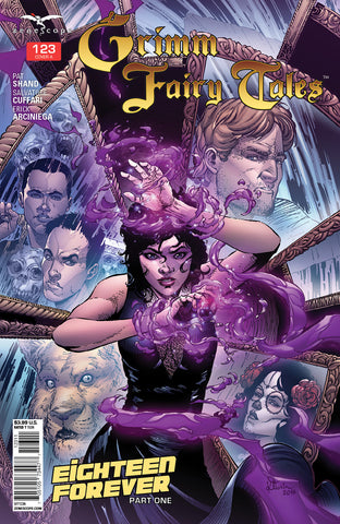 Grimm Fairy Tales #123 Magic Girl Under Attack Purple Mirrors Faces of Arcane Acre Students