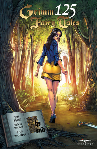 Grimm Fairy Tales #125 Sela Walking Into Forest Book Pages Open The End Series Finale Goodbye