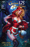 Grimm Fairy Tales #125 Homage Original Cover Red Riding Hood Nei Ruffino Red Dress Night Time Evil Forest