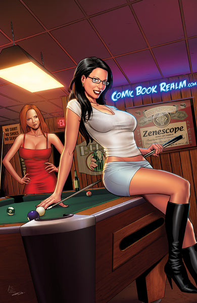 Grimm Fairy Tales #82 - Cover D Anthony Spay Girls Billiard Hall Playing Pool Bar Art Print