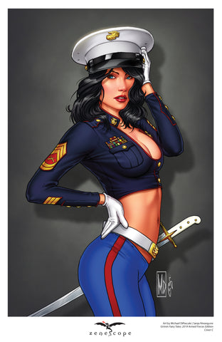 Grimm Fairy Tales: 2019 Armed Forces Edition - Cover C Mini Art Print
