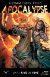 Grimm Fairy Tales: Apocalypse #5 Horseman Fire Sky Burning Scythe Comic Cover Art