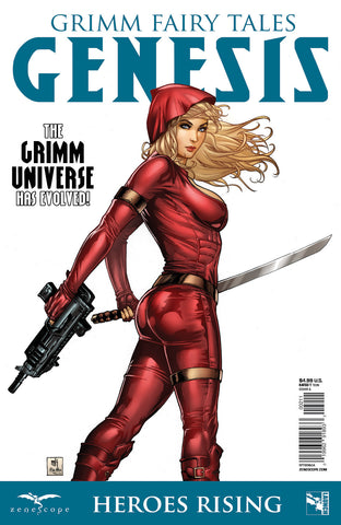 Grimm Fairy Tales Genesis: Heroes Rising One-Shot Red Riding Hood Britney Waters Red Jumpsuit Samurai Sword