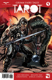 Grimm Fairy Tales: Tarot #1 Warrior Berserker Shield Sword Fire Battle Action