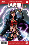 Grimm Fairy Tales: Tarot #1 Mage Warrior Wand Sword Crown Purple Lightning Action Swinging