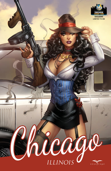 Grimm Fairy Tales: Tarot #1 - Cover F Bonnie and Clyde Cosplay Natalya Car Bullet Holes Famous Movie Scene Violence