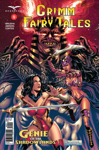Grimm Fairy Tales: Vol. 2 #9 Skye Mathers Evil Genie Sword Fight Action Intense Comic Book Cover Art