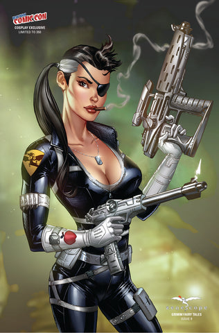 Grimm Fairy Tales: Vol. 2 #9 - Cover I Michael Dooney Ula Mos Cosplay Girl Alien Guns Comic Book Cover Art