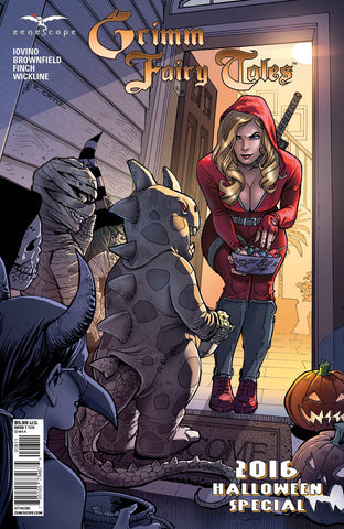 Grimm Fairy Tales: 2016 Halloween Special Red Riding Hood Handing Out Candy Trick or Treat