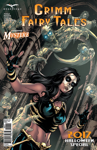 Grimm Fairy Tales 2017 Halloween Special Mary Medina Mystere Ghost Spooky Halloween Comic Book Cover Art