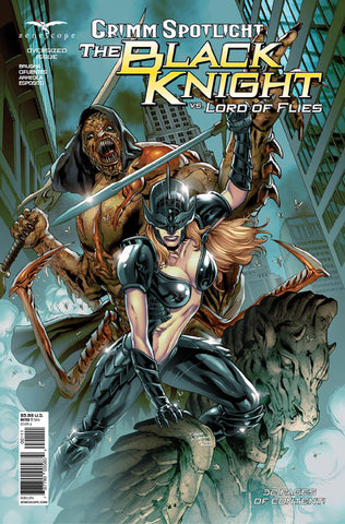 Grimm Spotlight: Black Knight vs Lord of Flies. Cover A. Igor Vitorino. Ivan Nunes. Zenescope. 2021.
