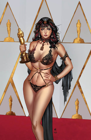 Grimm Tales of Terror: Vol. 3 #4 - Cover F Mike Krome Keres Naughty Oscars Red Carpet Photoshoot