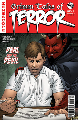 Grimm Tales of Terror: Vol. 3 #7 A Eric J Deal with the Devil Man Signing Document Devil on Shoulder