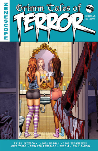 Grimm Tales of Terror: Special Edition Trade Paperback Horror Slasher Girls In Bathroom Axe Attack Lethal Blood