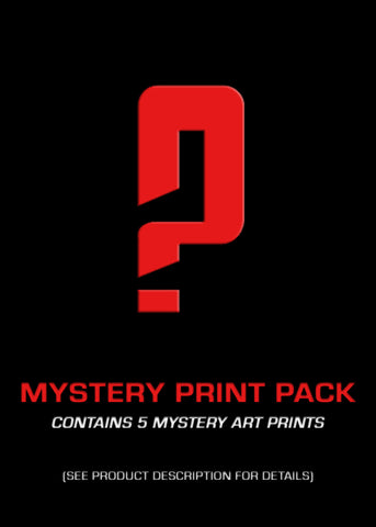 Mystery Art Print Pack of 5