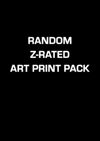 Random Z-Rated Art Print Pack