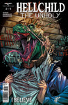 Hellchild: The Unholy #2 Lizard Man Disguise Evil Monster Art Cover Comic