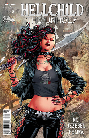 Hellchild: The Unholy #4 Destroyed City Angelica Blackstone Giant Sword Comic Cover