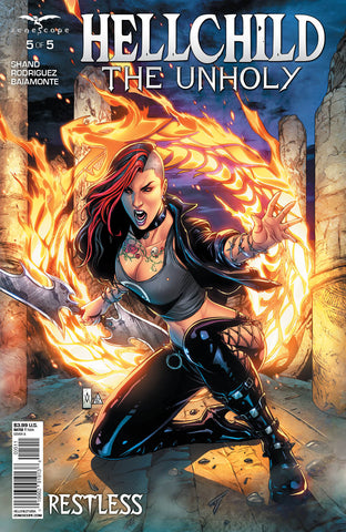 Hellchild: The Unholy #5 Fire Ring Angelica Blackstone Giant Sword Cover Art Comic