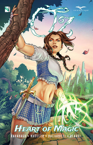 Oz: Heart of Magic Graphic Novel. Cover by Martin Coccolo. Ivan Nunes. Zenescope. 2021.