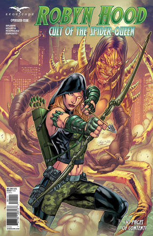Robyn Hood: Cult of the Spider. Cover A. Igor Vitorino. Ivan Nunes. Zenescope. 2021.