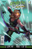 Robyn Hood: I Love NY #1 Robyn Magic Arrows Flying Glowing Eye Motion Flying Cover Comic Art