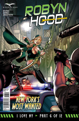 Robyn Hood: I Love NY #6 Police Attack Robyn Pistol Shotgun SWAT Team Riot Police Surrounded Art Cover Comic