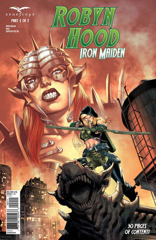 Robyn Hood: Iron Maiden Part 2. Cover A. Martin Coccolo. Ivan Nunes. Zenescope. 2021.
