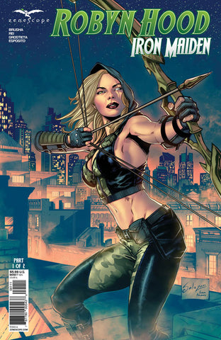 Robyn Hood: Iron Maiden Part 1. Cover A. Edgar Salazar. Ivan Nunes. Zenescope. 2020.
