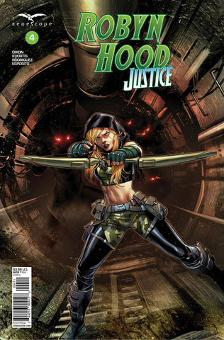 Robyn Hood: Justice #4. Cover A. Martin Coccolo. Ivan Nunes. Zenescope. 2020.