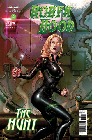 Robyn Hood: The Hunt #2 Black Jumpsuit Knife Post-Battle Prison Cell Smoke Blood