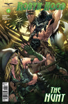 Robyn Hood: The Hunt #4 Chase Under Attack The Executioner Big Axe Jungle Comic Book Cover Art