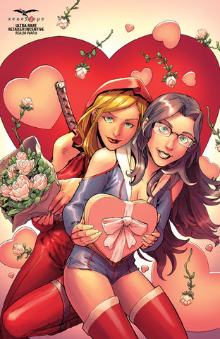 Realm War: Age of Darkness #8 - Cover D Sela Mathers Britney Waters Heart Chocolates Valentine's Day Comic Book Cover Art