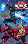 Red Agent: The Human Order #2 Secret Agent Shooting Energy Bolts Battle Art Cover Comic