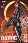 Red Agent: The Human Order #2 Secret Agent Pose Assault Rifle Black Jump Suit Eclipse Art Cover Comic