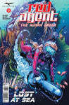 Red Agent: The Human Order #3 Giant Fish Attack Red Riding Hood Water Pod Exciting Thrill Danger Cover Comic