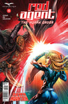 Red Agent: The Human Order #4 Force Field Protect From Sword Fight Battle Exciting Comic Art Cover