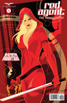 Red Agent: The Human Order #4 Mike Mahle Pop Art Sword Red Cool Cover Art Comic
