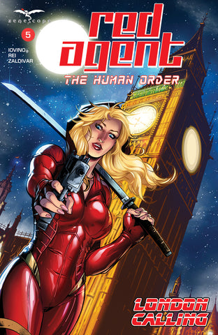 Red Agent: The Human Order #5 Big Ben Pistol Samurai Sword Moonlight Art Cover Comic