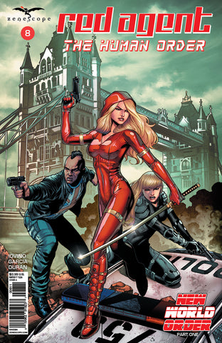 Red Agent: The Human Order #8 A Sean Chen Team Secret Agents Bridge London Guns Swords