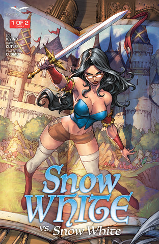 Snow White vs. Snow White #1 Book Sword Blue Dress Comic Book  Cover Art