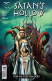 Satan's Hollow #3 Evil Tentacle Demon Girls Being Surrounded Comic Cover Art