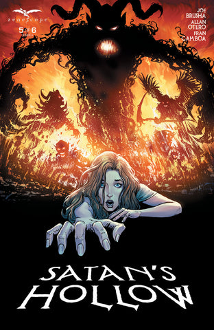 Satan's Hollow #5 Girl Crawling From Demon Evil Terror Art Cover Comic