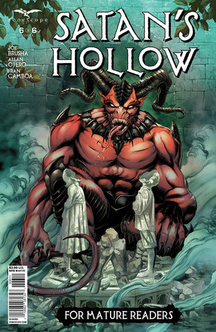 Satan's Hollow #6 Satan Escape Hell Breaking Statue Fog Smoke Evil Comic Book Art