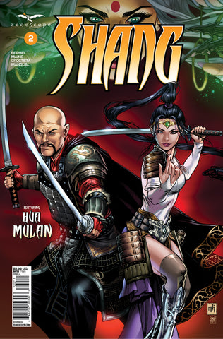 Shang #2. Cover A. Mike Krome. Grostieta. July 2020. Zenescope Entertainment.