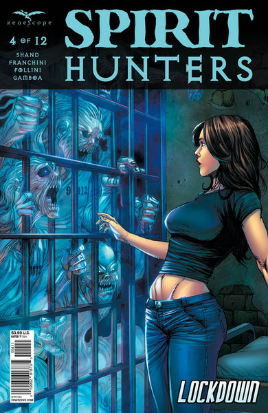 Spirit Hunters #4 Ghost Prison Cell Reaching Out Ellen Comic Cover Art