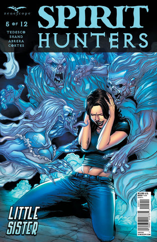 Spirit Hunters #5 Ellen Under Attack Spirits Haunting Ghosts Comic Book Art